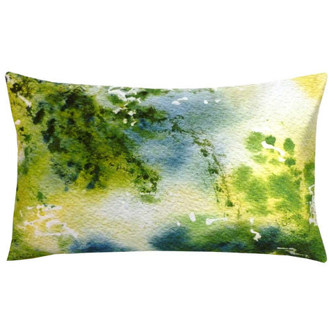 Rectangular Nebuleux Abstract Cushion