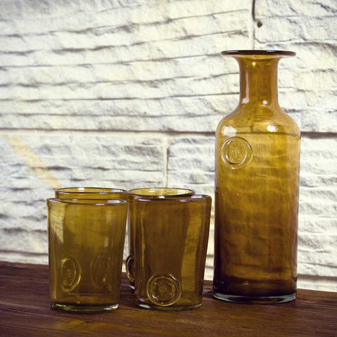 Set of 3 Boho Honey Handmade Glasses