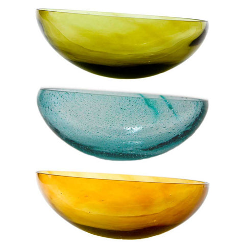 Olive Green Handmade Glass Bowl