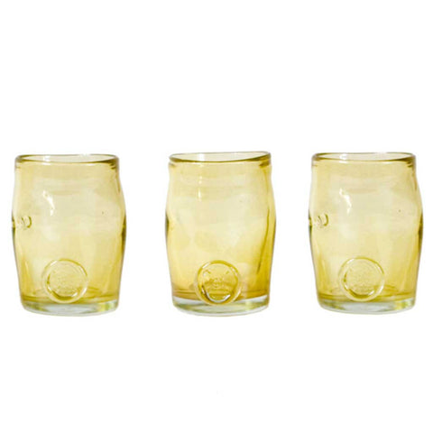 Set of 3 Boho Gold Handmade Glasses