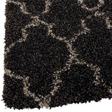 Aegean | Shaggy Rug | Charcoal Grey | Pattern