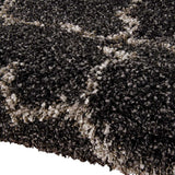 Amore Shaggy Rug in Charcoal Grey