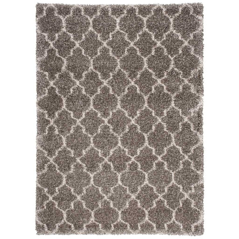 Amore Shaggy Rug in Stone Grey