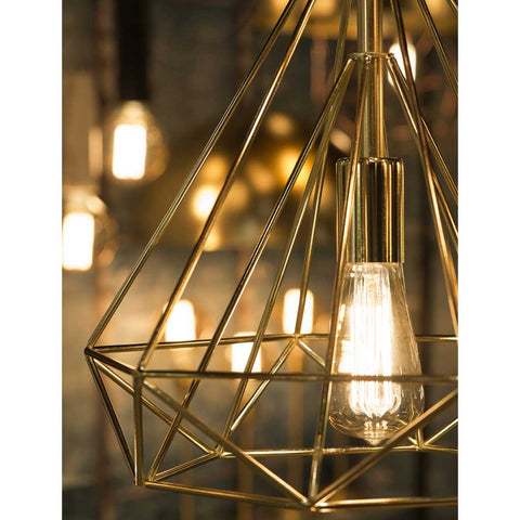 Antwerp Gold Finish Iron Pendant Light