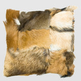 Goat fur decorative cushion