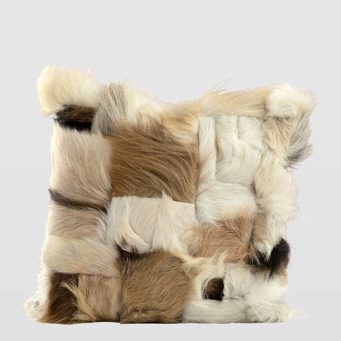 Goat fur cushion