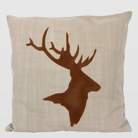Decorative Cushion with Deer
