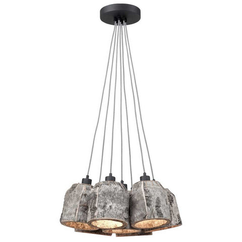 Aspen Natural Birch 7 Shades Pendant Light
