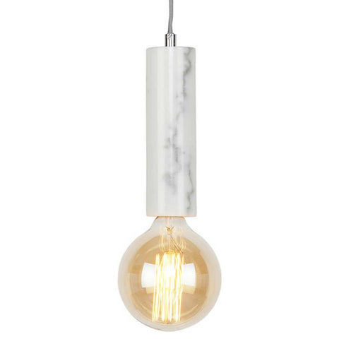 Athens White Marble Pendant Light