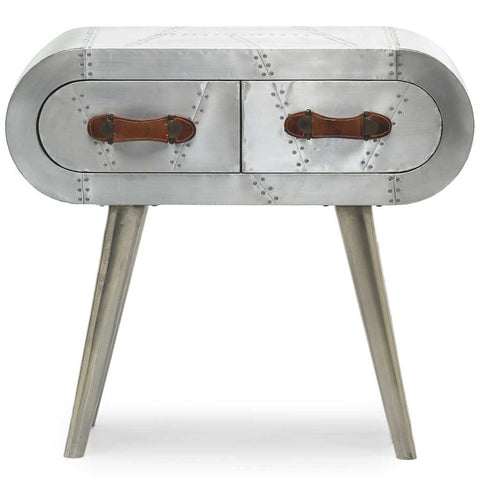 Aviator Aluminium Bedside Table