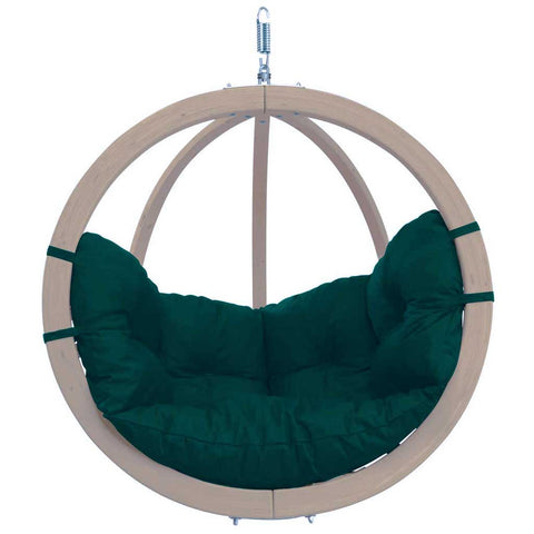 Luxury Globo Garden or Indoor Hanging Chair in Weatherproof Green