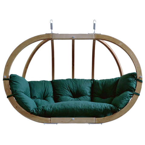 Globo Royal Garden or Indoor Hanging Chair in Weatherproof Green