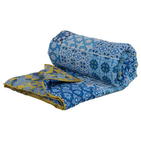 Tile Print Cotton Voile Bedspread