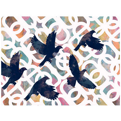 Black Doves Art Print