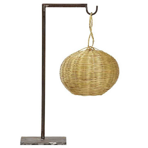 Iron and Cane Figuera Table Lamp