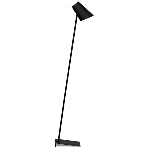 Cardiff Black Iron and Rubber Floor Lamp