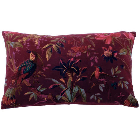 Burgundy Paradise Cushion Cover