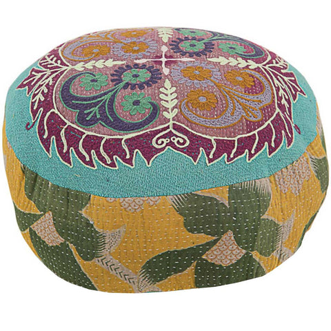 Jade Antique Kantha Cushion