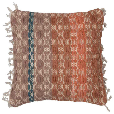 Wool Weave Checks Cushion Cover