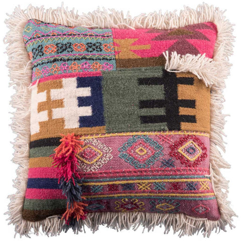 Mina Embroidered Wool and Cotton Cushion Cover