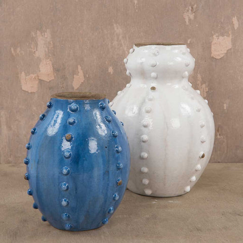 Nautical Blue Sea Urchin Vase