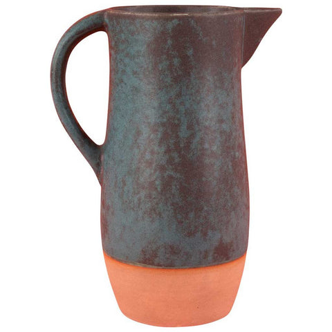 Samia Two-Tone Earthenware Pitcher Vase