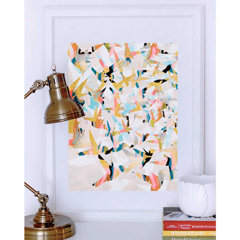 Color Migration Bird Painting Art Print
