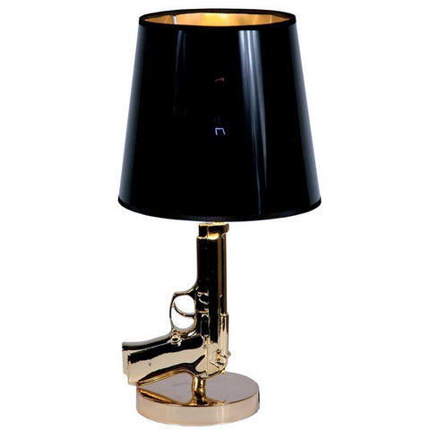 Stylish Original Gold Gun Table Lamp
