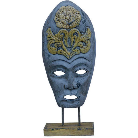 Bohemian Large Carved Wood Mask