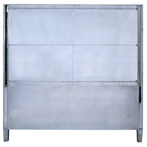 Antique Silver Mirrored Headboard