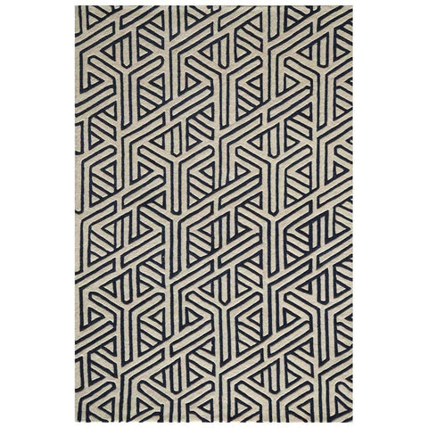 Mesmer Navy Blue Wool Rug
