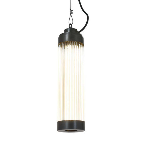 Pillar Pendant Light in Weathered Brass by Davey Lighting