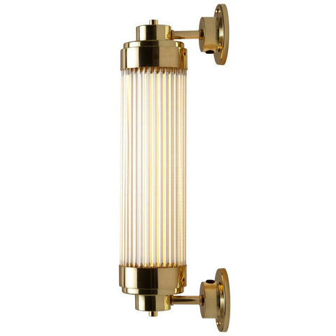 7216 LED Pillar Light in Polished Brass by Davey Lighting