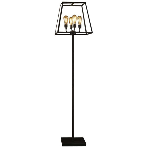 Black Weathered Brass 4 Lights Floor Lamp by Davey Lighting