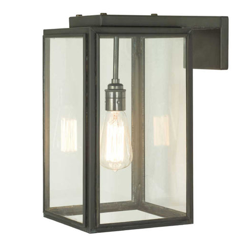 Portico Wall Light in Weathered Brass by Davey Lighting