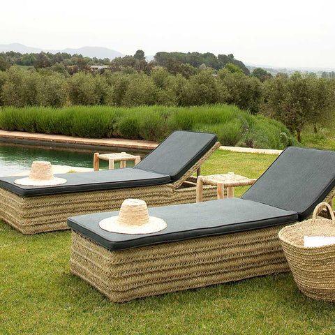 Calaluna Esparto Natural Sun Lounger