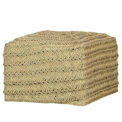 Saona Esparto Natural Square Pouffe