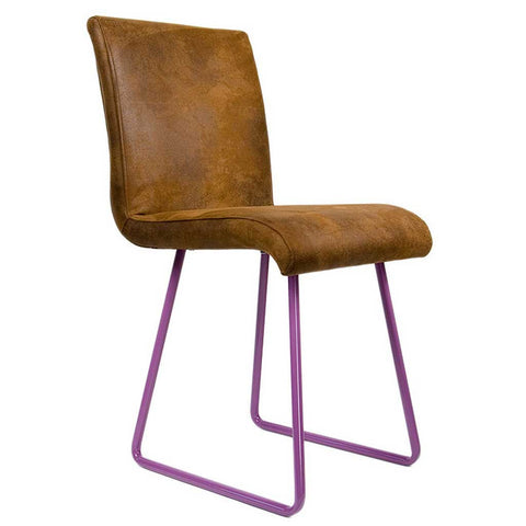 Leather Polo | Chair | Purple legs and Leather-like