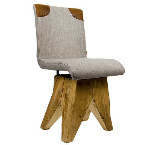 Warm Log | Chalet Chair | Wood and Cotton