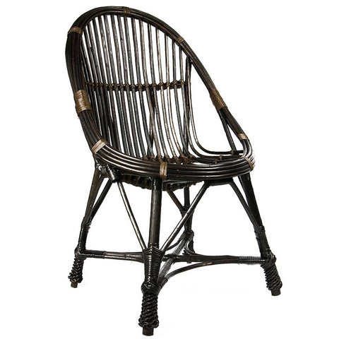Agatha |  Scandi Boho | Dark Brown Willow Chair