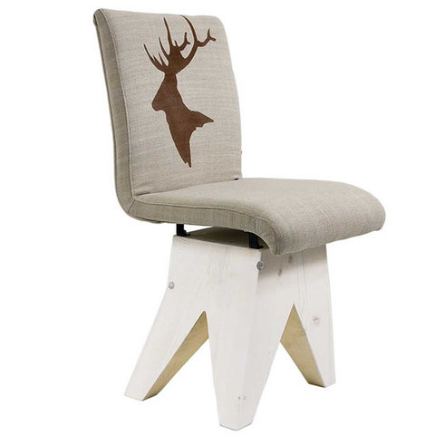 Deer Log | Chalet Chair | Wood and Cotton