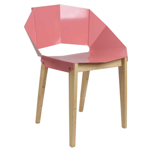 Dusty Pink Origami | Chair | Steel and Wood