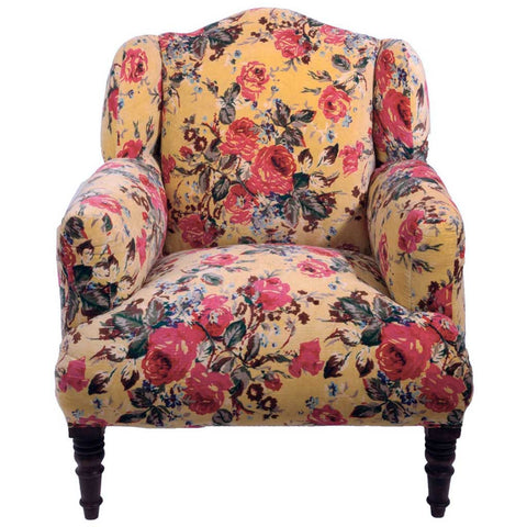 Cream Roses Armchair