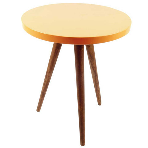Peach and Sheesham Wood Side Table
