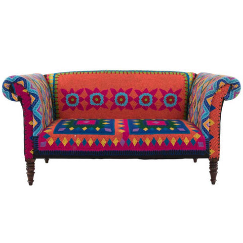 Hand Embroidered Mexican Sofa