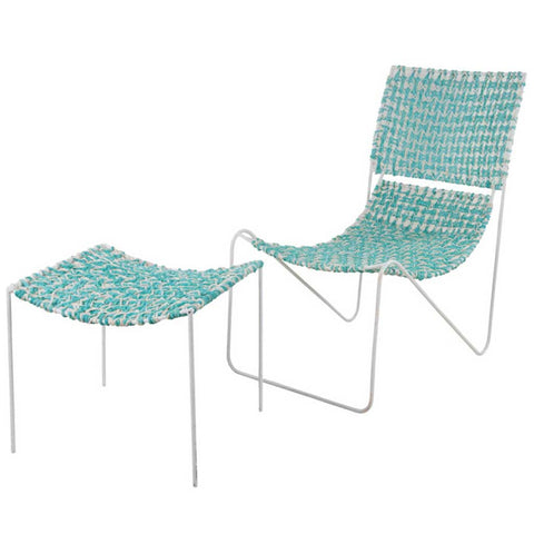 Chindi Blue Chair and Stool