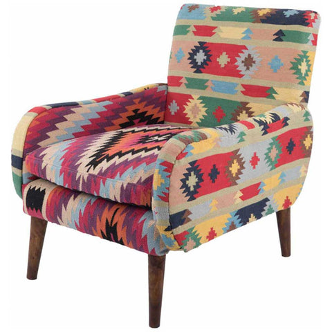 Cotton Dhurrie Aztec Armchair