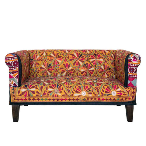 Hand Embroidered Kobe 2-Seater Sofa