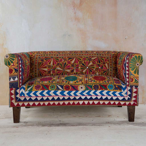 Hand Embroidered Frida 2-Seater Sofa