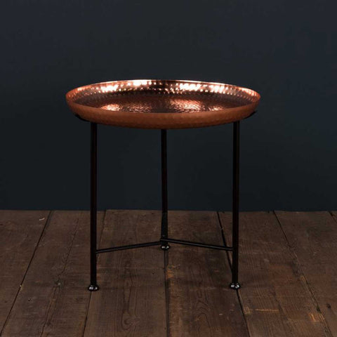 Moroccan Side Table with Copper Removable Top
